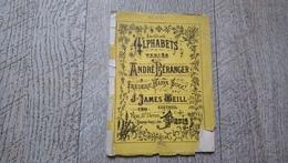 Album Ancien Dépliant  Alphabets Variés André Beranger N°249 Point De Croix Broderie Mode - Fashion