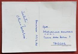AUTOGRAFO DI ENZO BERTOLISSI  SU CARTOLINA GIOCHI  DELLA GIOVENTU' SPORT INVERNALI ROCCARASO 1985 - Giochi