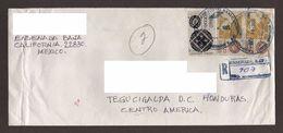 Mexico, Cover Sent From Ensenada, Baja California-Tegucigalpa With Stamps Mexico Exports Honey, Wrought Iron, 1995 - Mexico