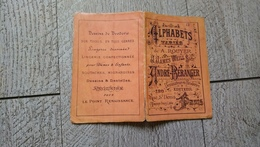 Album Ancien Dépliant  Alphabets Variés André Beranger N°13 Point De Croix Broderie Mode - Fashion