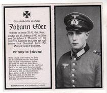 Nr.  9163,  Deutsche Wehrmacht,  Sterbebild, Johann Eder - Guerre 1939-45