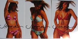 Publicité Jenna De Rosnay Maillot De Bain Femme 3 Cartes Différentes - Reclame