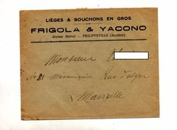 Lettre Algerie Liege Bouchon Cachet Marseille Sur Chateau Curiosité - Lettres & Documents