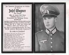 Nr.  9164,  Deutsche Wehrmacht,  Sterbebild, Josef Wagner - Guerre 1939-45