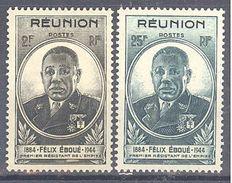 Reunion: Yvert N° 260/261*; Cote 3.75€ - Réunion (1852-1975)