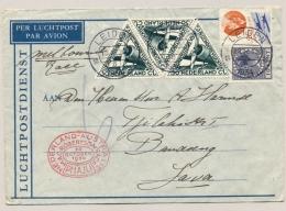 Nederlands Indië - 1934 - MacRobertson Race  Op Cover Van Leiden Naar Bandoeng - Nederlands-Indië