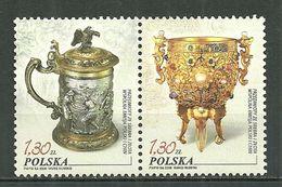 POLAND MNH ** 3990-3991 Orfèvrerie Coupe En Or Bock En Argent De Gdansk - 1944-.... République