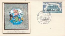 FDC édition Thiaude  - Sérigraphie Sirène De Michel Carlier - Le Cinq Mats FRANCE II La Rochelle 9/6/1973 - Bateau - FDC