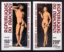 "Dahomey (Benin), Lucas Cranach The Elder, ""Adam And Eve"", Imperforated, 1972, MNH VF - Benin - Dahomey (1960-...)"