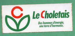 LE CHOLETAIS DES HOMME D ENERGIE UNE TERRE D HARMONIE / AUTOCOLLANT - Autocollants