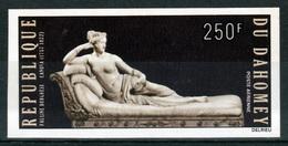 "Dahomey (Benin), ""Pauline Borghese"" By Canova, Italian Sculptor, Imperforated, 1972, MNH VF  Airmail - Benin - Dahomey (1960-...)"