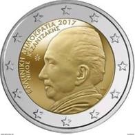Griekenland  2017    2 Euro  Dimitri  Nikos Kazantzakis  LEVERBAAR !!!!      UNC Uit De Rol  UNC Du Rouleaux !! - Greece