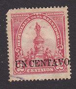 El Salvador, Scott #312, Used, Morazan Monument Surcharged, Issued 1905 - El Salvador