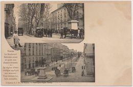 CPA France - Nantes - Le Boulevard Delorme Avant Et Apres Son Chambardement -Le Regime Democratique Applique Aux Avenues - Nantes