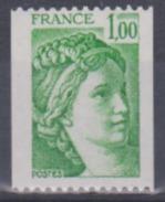 Année 1977-78 - N° 1981A - Sabine - Timbre De Roulette Avec N° 200 Rouge Au Verso - Rollen