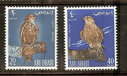 ABU DHABI BIRDS FALCON 2v 1965 MNH !! - Adler & Greifvögel