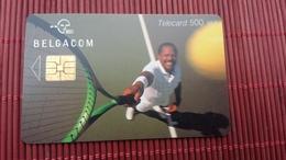 Phonecard Tennis Player 500 BEF  Belgium Low Issue Rare - Mit Chip