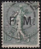 France   .    Yvert      .    Fm   3       .         O   .        Oblitéré - Militaire Zegels (zonder Portkosten)
