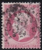 France   .    Yvert      .      24      .         O   .        Oblitéré - 1862 Napoleone III
