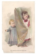 Victorian Trade Card 1894 Lion Coffee Woolson Spice Co Premium Offer Children - Advertising