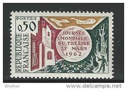 "FR YT 1334 "" Journée Du Théatre "" 1962 Neuf** - France"