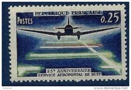 """FR YT 1418 """" Aéropostal De Nuit """" 1964 Neuf** - Unused Stamps"""