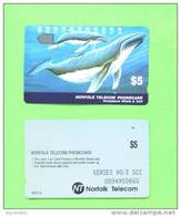 NORFOLK ISLAND - Magnetic Phonecard/Humpback Whale And Calf - Norfolk Eiland