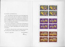 PTT MITARBEITERGESCHENK → 1949 Und 1952 Im Viererblock * - Collections