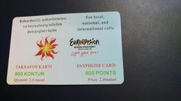 Azerbaijan-eurovision-song Contest Baku-(2012)-(chip Card)-(curved In The Middle) - Azerbaïjan