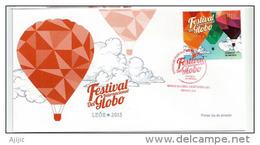 MEXIQUE.Festival International De Montgolfières 2015 ( Ciudad De Leon, Guanajuato) Un FDC Officiel - Fesselballons