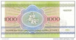 BELARUS 1000 Rouble P- 11 1992 **UNC** - Wit-Rusland