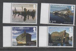 FALKLAND ISLANDS ,2017, MNH, SHIPS, SHIPWRECKS, 4v - Barche