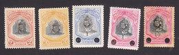 El Salvador, Scott #350-354, Mint Hinged, President Escalon Overprinted And Surcharged, Issued 1907 - El Salvador