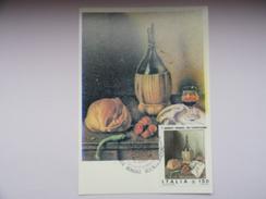 CARTE MAXIMUM CARD NATURE MORTE DE GREGORIO SCILTIAN ITALIE - Moderni