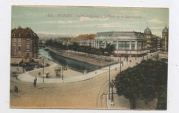 CPA: 90 - BELFORT - LA PLACE CORBIS ET LE PONT SUR LA SAVOUREUSE - Belfort - Ville