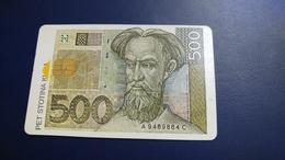 Croatia-pet Stotina Kuna-(500 Kartica)-used Card+1card Prepiad Free - Timbres & Monnaies