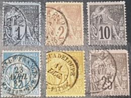 Colonie Française Type Alphée Dubois N° 46/47/50/51/53/54  Avec Oblitération D'Epoque  TB - Alphee Dubois