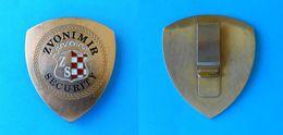 ZVONIMIR SECURITY - OFFICIAL LARGE BREAST BADGE - Croatia Security Company * Sicherheitsunternehmen Société De Sécurité - Police