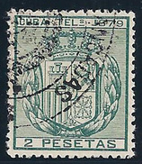ESPAÑA/CUBA 1879 - Edifil #NE1 - VFU - Cuba (1874-1898)