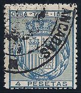ESPAÑA/CUBA 1879 - Edifil #NE2 - VFU - Cuba (1874-1898)