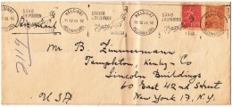 FICV001 Finland 1959 Airmail Cover Nice Franking W/ Slogan Sand Julposten Helsinki To NY - USA - Finland