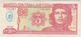 2004-BK-127 CUBA 2004 3$ ERNESTO CHE GUEVARA. REEMPLAZO REPLACEMENT FZ RARE. - Cuba