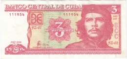 2004-BK-128 CUBA 2004 3$ ERNESTO CHE GUEVARA. REEMPLAZO REPLACEMENT FZ RARE. - Cuba