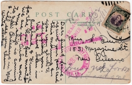 1910-H-91 CUBA REPUBLICA. 1910 UNCLAIMED POSTCARD TO NEW ORLEANS 1911. - Cuba