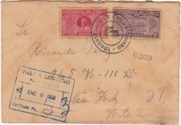 1928-FDC-38 CUBA FDC 1928. 30c SEXTA CONFERENCIA. INGENIO AZUCAR. SUGAR MILLS. SOBRE CERTIFICADO PALMA SORIANO A NEW YOR - FDC