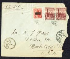 1952   Air Letter To USA   - Egyptian Censorship - Egypt