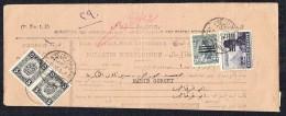 1953  Parcel Post Shipping Bulletin - Farouk Face Blackedout 200 Mills, 100 Mills,    20 Mills , 10 Mills - Egypt