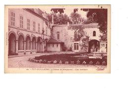 63 Puy Guillaume Chateau De Montpeyroux Cour Interieure Cpa Carte Rare - France