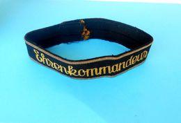 AUSTRIA-HUNGARY - EHRENKOMMANDEUR ... Original Vintage Cap Tally Hat Band Ribbon * Österreich-Ungarn - 1914-18