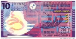 Hong Kong (GOV) 10 Dollars 10.1.2007 UNC Cat No. P-401b / HK720b - Hong Kong